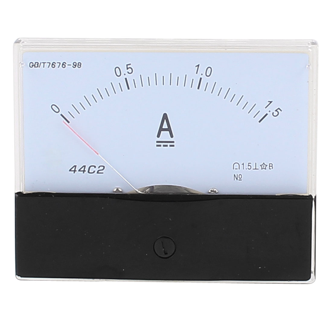 44C2 Pointer Needle DC 0-1.5A Current Tester Panel Analog Ammeter 100mm x 80mm