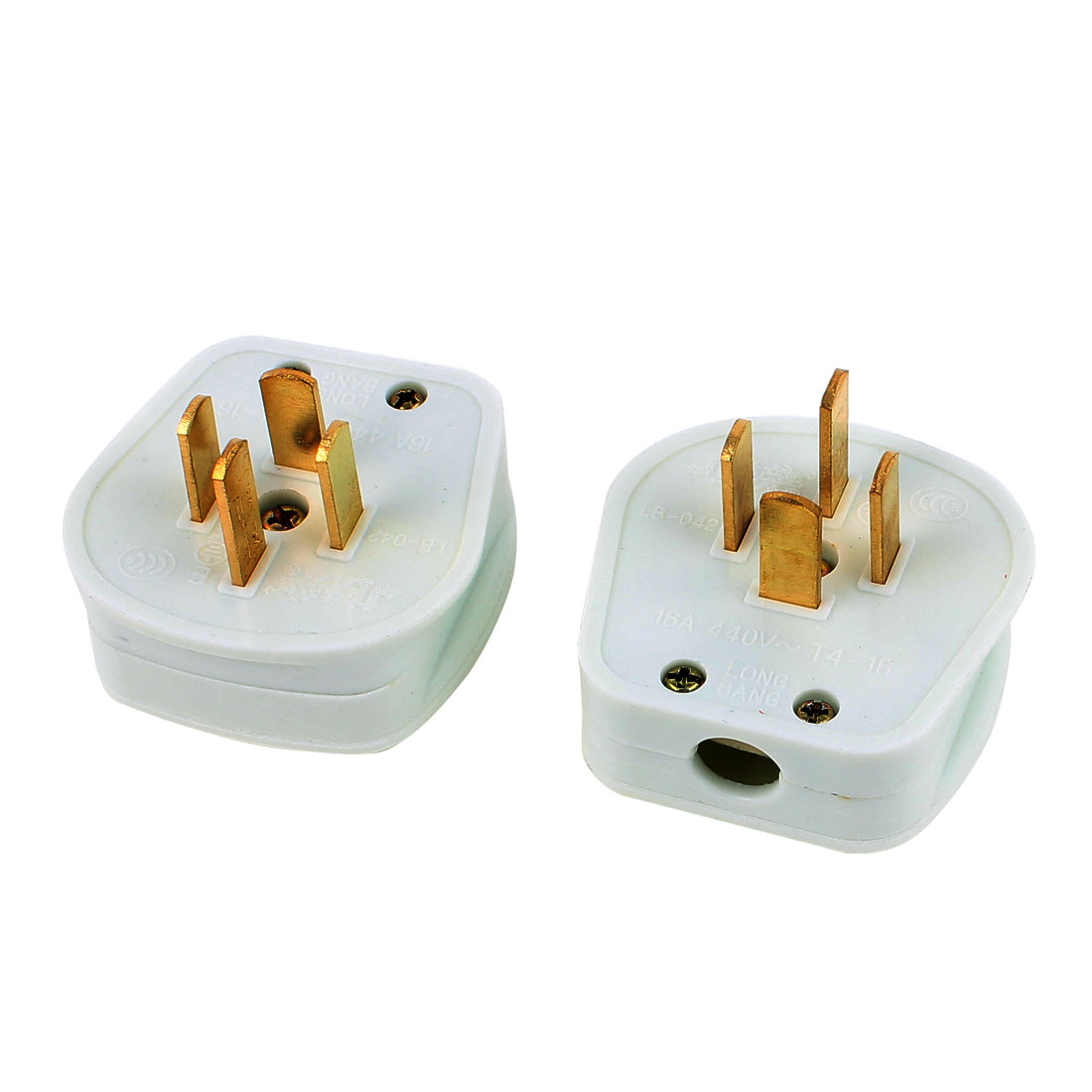 AC 440V 16A Industrial Plug 4 Flat Pin 3 Phase 4 Wire Power Adapter Plug