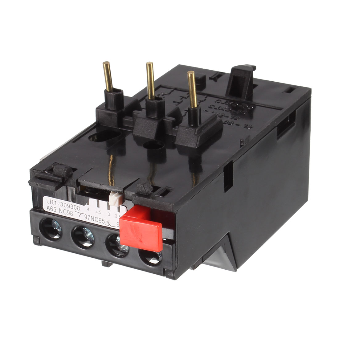 2.5-4A Adjustable 380V 3 Pole Motor Thermal Overload Relay 1NO 1NC