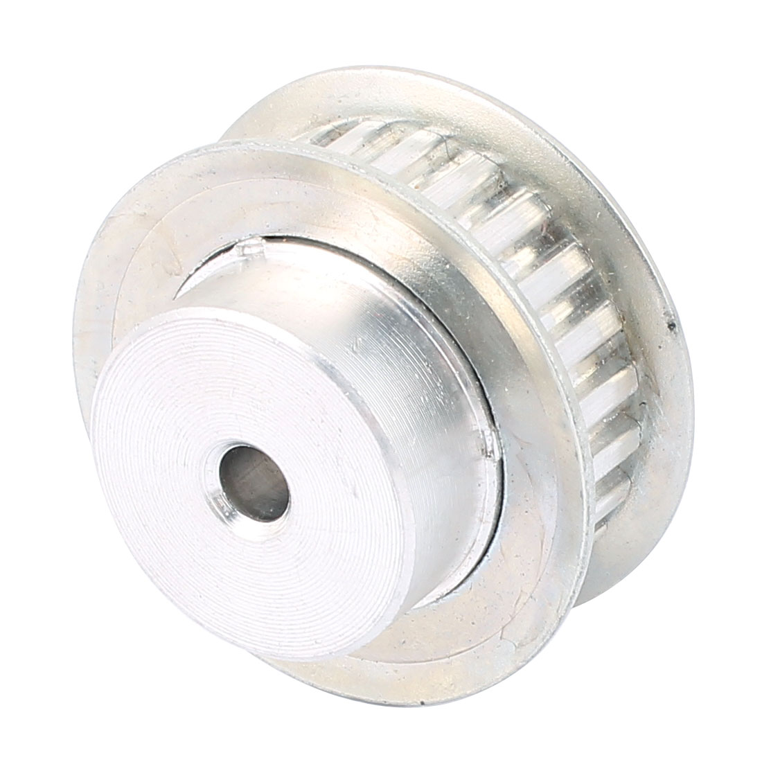 XL24 11mm Belt Width 6mm Bore 24 Teeth Synchronous Timing Pulley Silver Tone