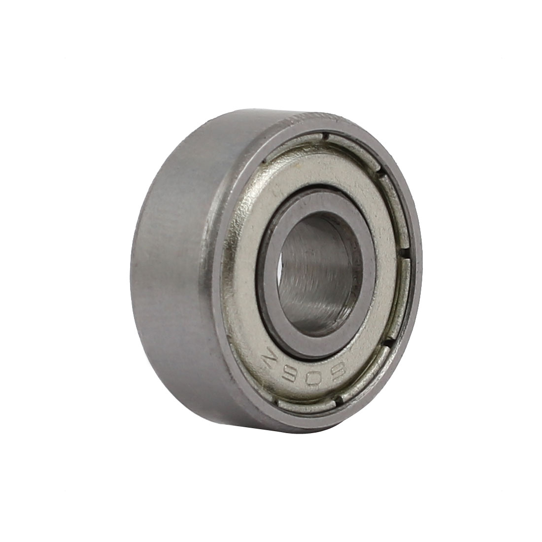 606Z 6mmx17mmx16mm Shielded Deep Groove Ball Bearings Silver Tone 4pcs