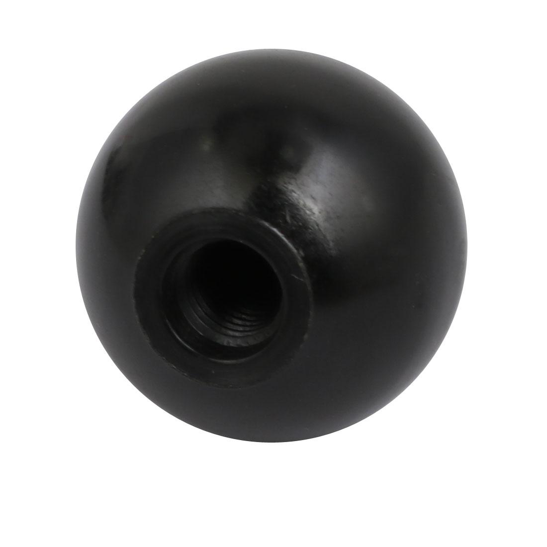 35mm Dia M10 Female Threaded Plastic Round Handle Ball Knob Black