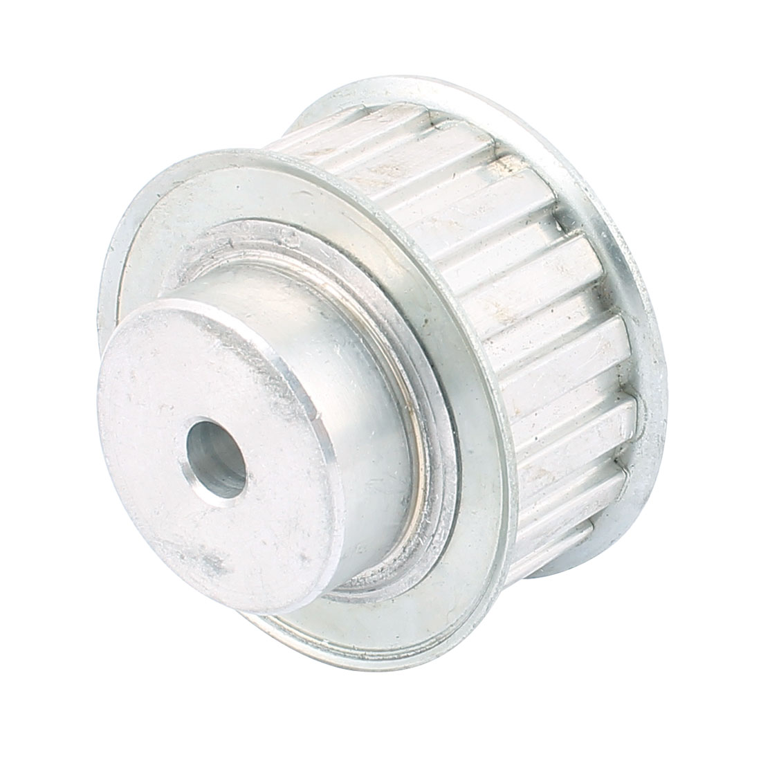 XL18 21mm Belt Width 8mm Bore 18 Teeth Synchronous Timing Pulley Silver Tone