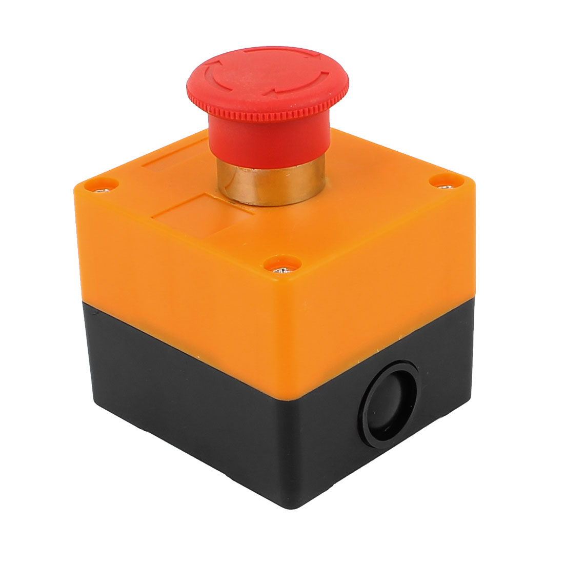 240V 3A Rotary Reset Red Mushroom Head Emergency Stop Pushbutton Switch