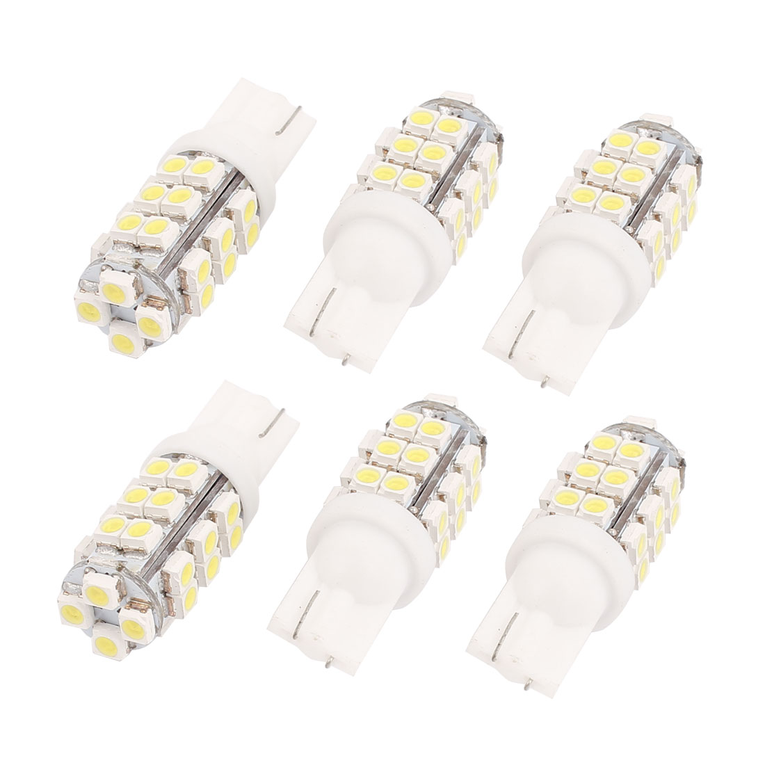 6 Pcs T10 1210 28-SMD White LED Wedge Map Dome Roof Light Bulb Lamp 12V Internal