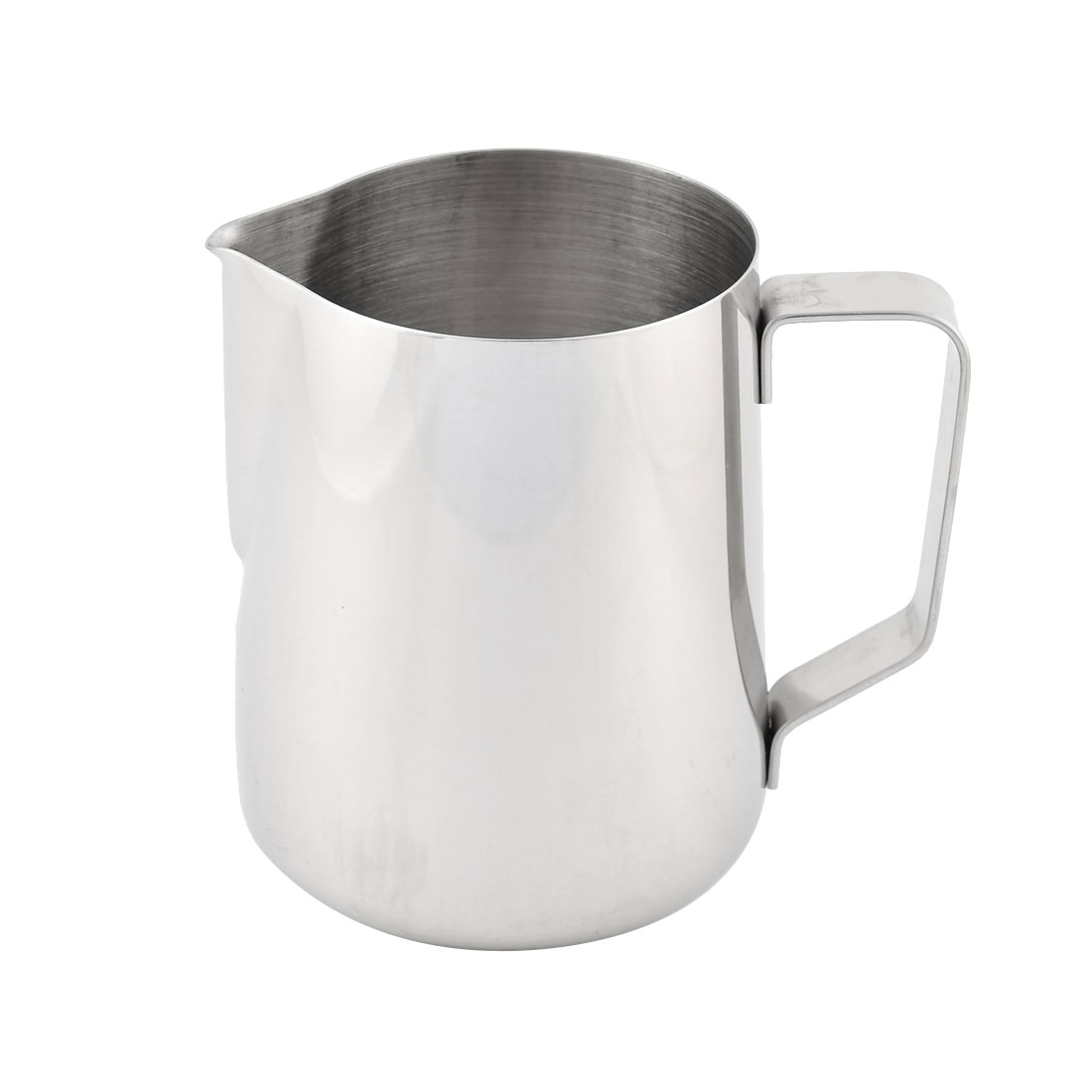 Stainless Steel Beaker Coffee Drink Measuring Bottle Cup 600ml Capacity Silver Tone