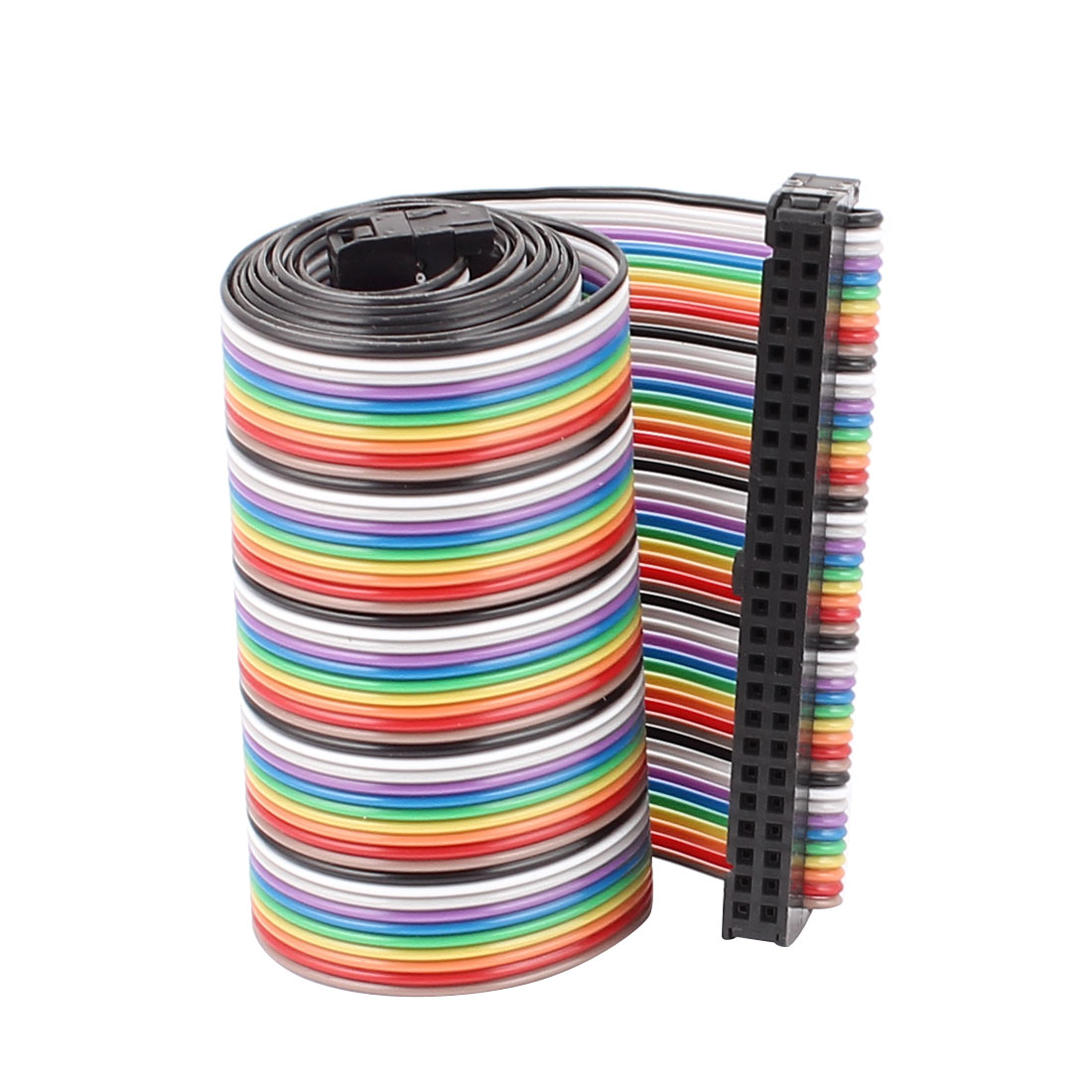 66cm Length 2.54mm Pitch 50P 50 Way F/F Rainbow IDC Flat Ribbon Cable Connector