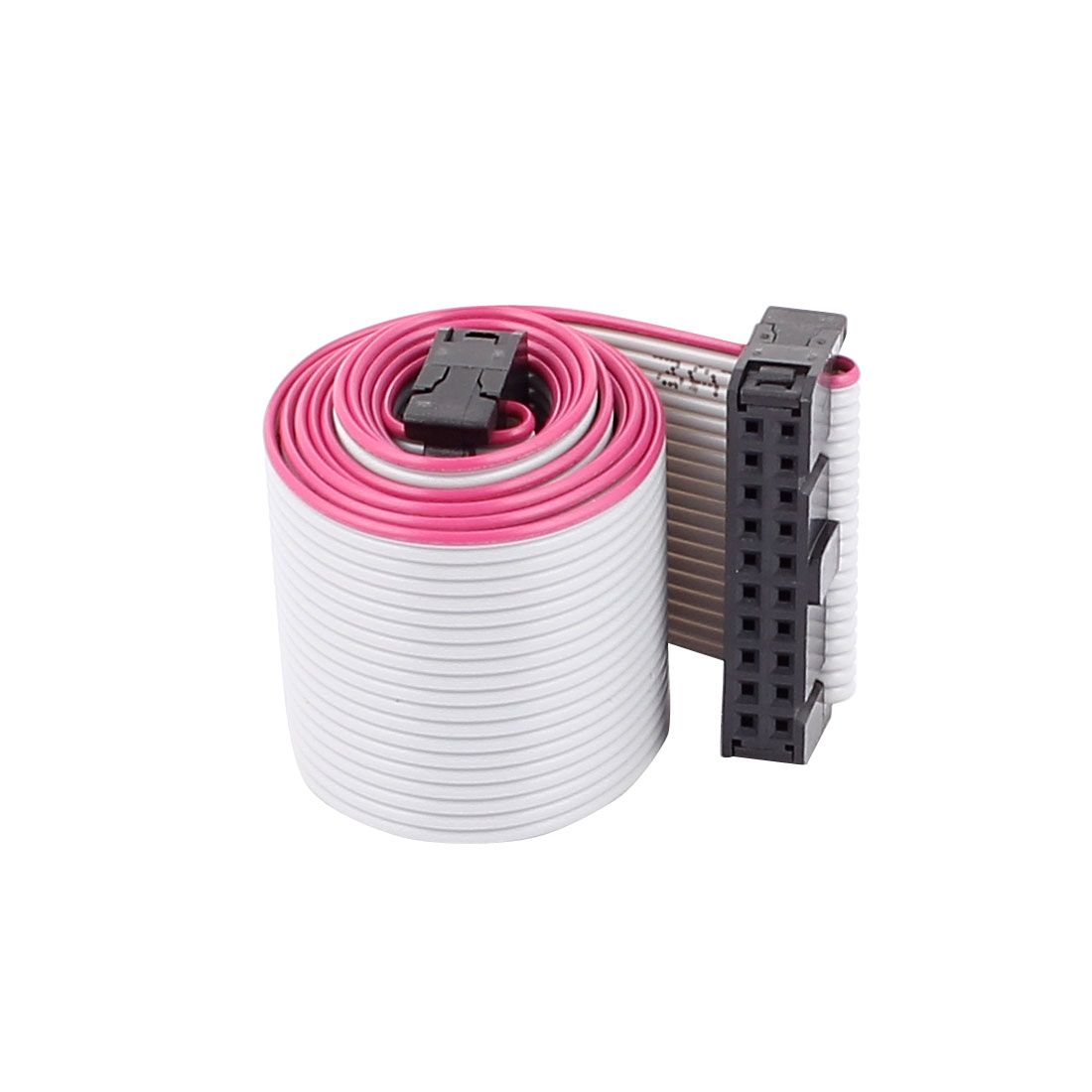 2.54mm Pitch 20 Pins 20 Wires F/F IDC Connector Flat Ribbon Cable 66cm Long