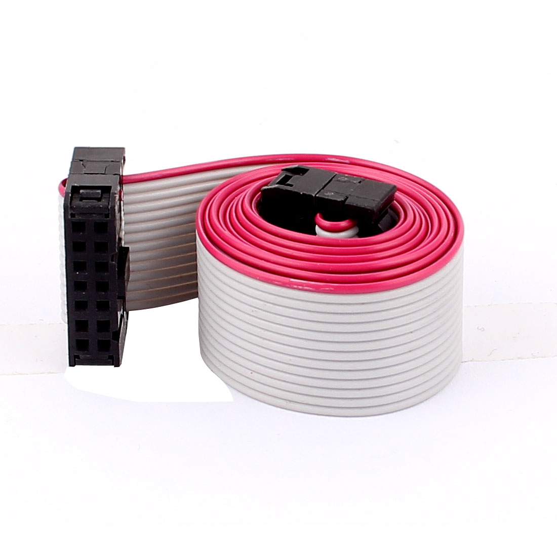 2.54mm Pitch 14 Pins 14 Wires F/F IDC Connector Flat Ribbon Cable 66cm Long
