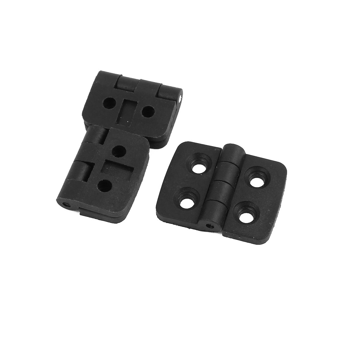 40mm x 30mm Plastic Foldable Hinge Black 3pcs for Home Door