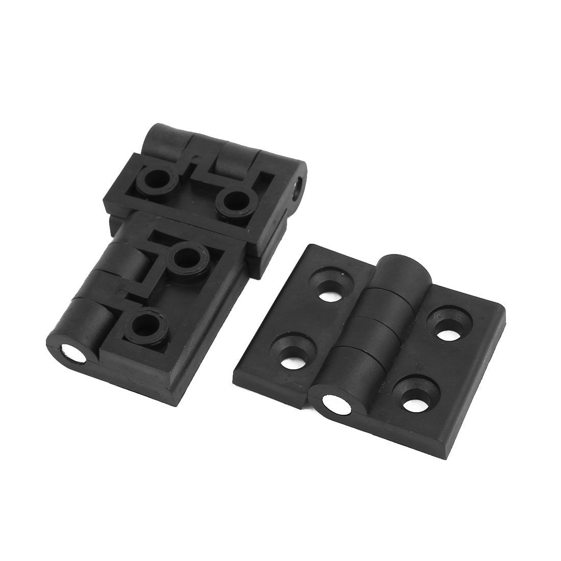 57mm x 45mm Plastic Foldable Flap Hinge Black 3pcs for Home Door