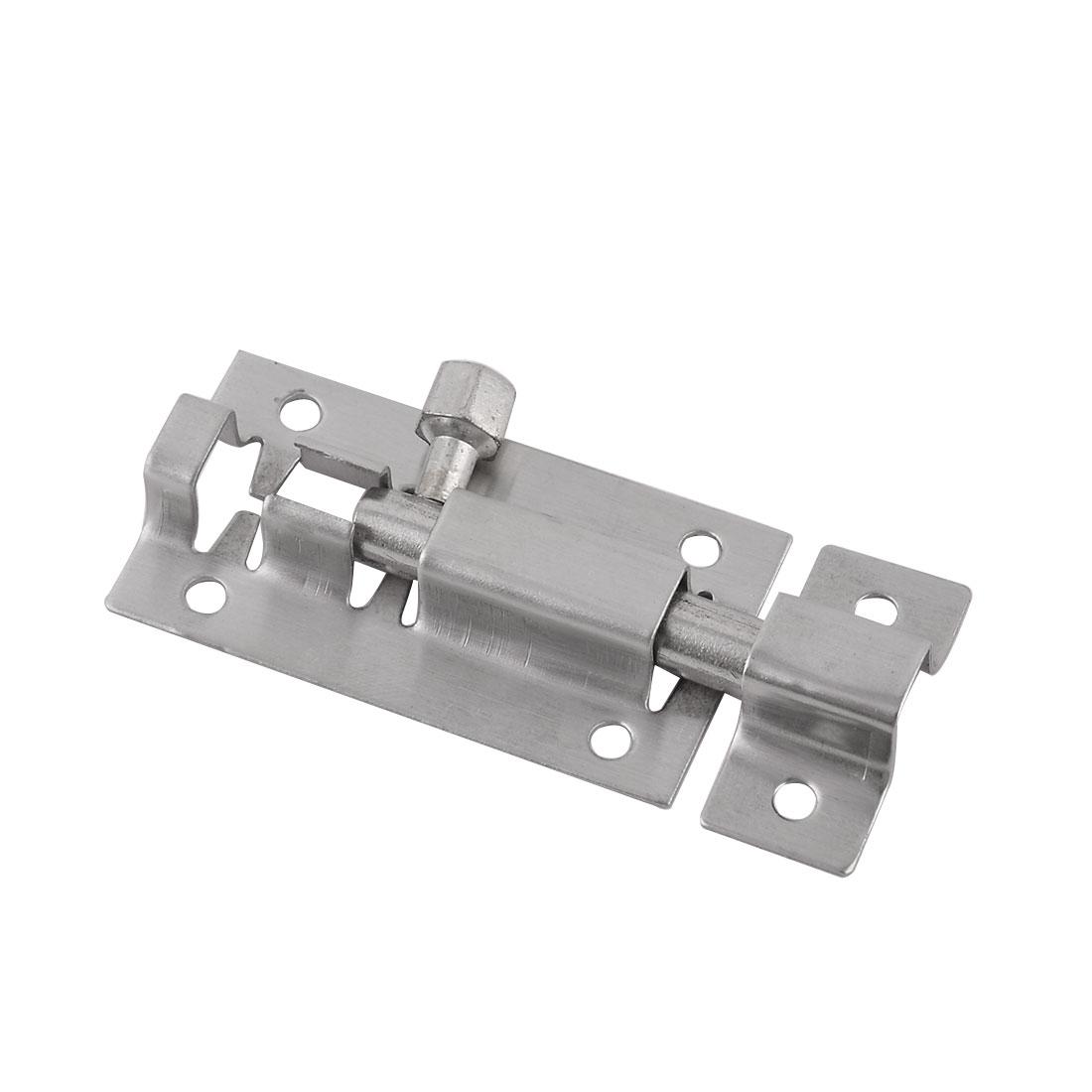 Cabinet Door Gate 6.3cm Long Stainless Steel Latch Barrel Slide Bolt Silver Tone