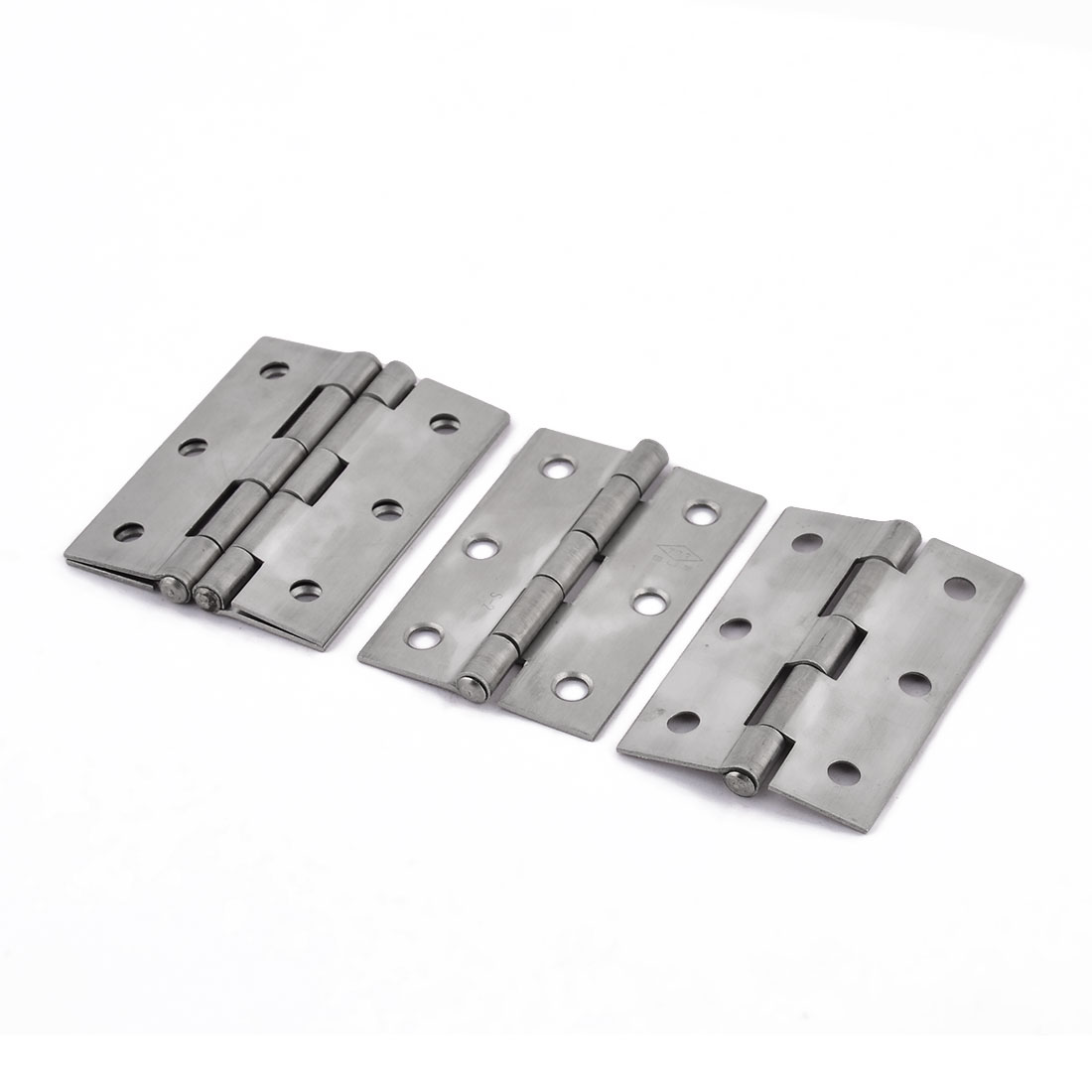 Door Jewelry Box Case 63 x 42mm Stainless Steel Folding Butt Hinges 4 PCS