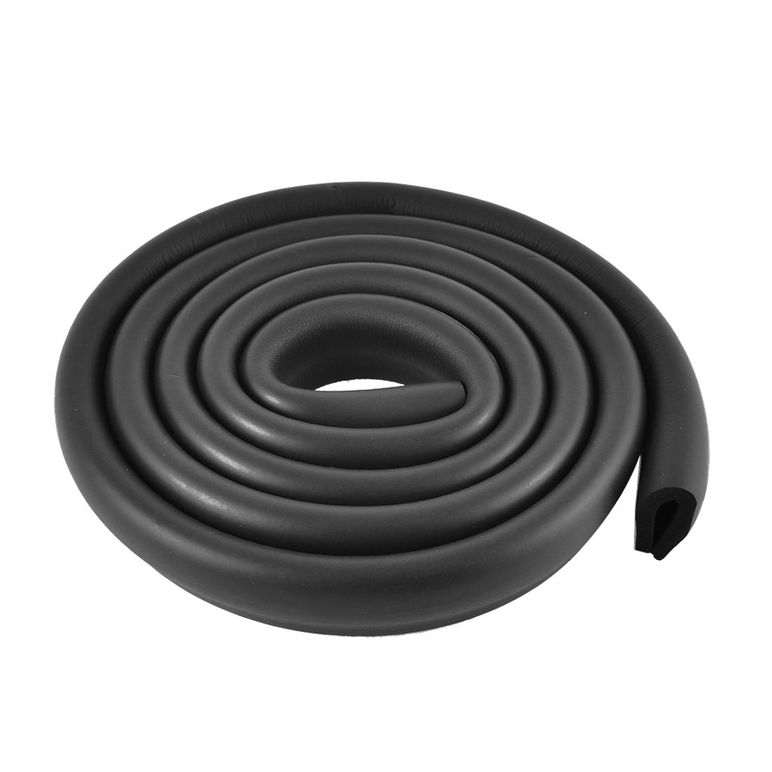 Table Corner Edge Softener Safety Protection Cushion Guard 2M Long Black