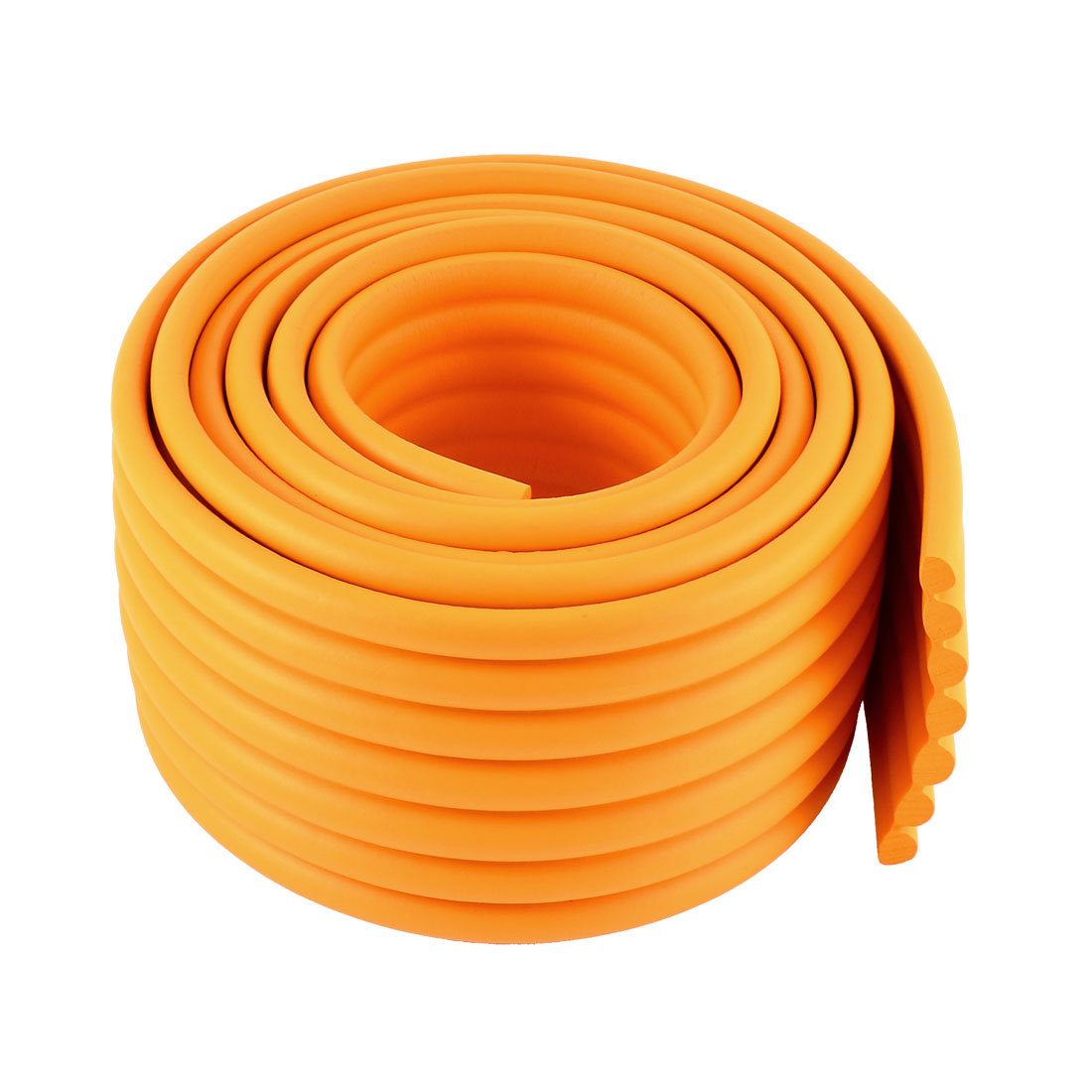 Table Desk Edge Corner Cushion Guard Protector Bumper 2M Long Orange