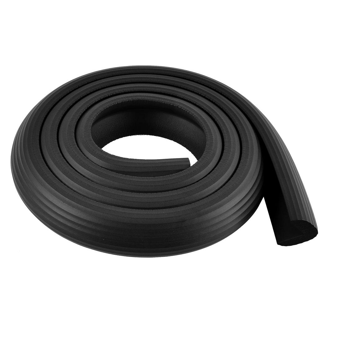 L Shape Guard Furniture Corner Edge Protection Cushion 2M Long Black