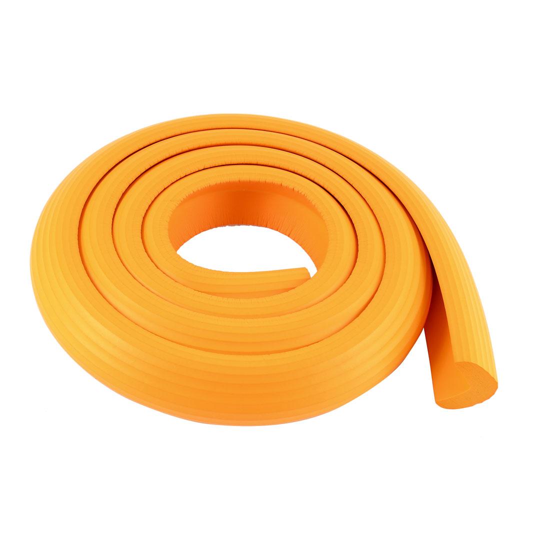 Furniture Corner Edge Soft Safety Protection Cushion Guard 35mm x 12mm Orange