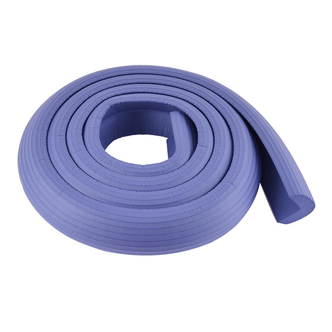 Furniture Corner Edge Soft Safety Protection Cushion Guard Blue w Adhesive Tape