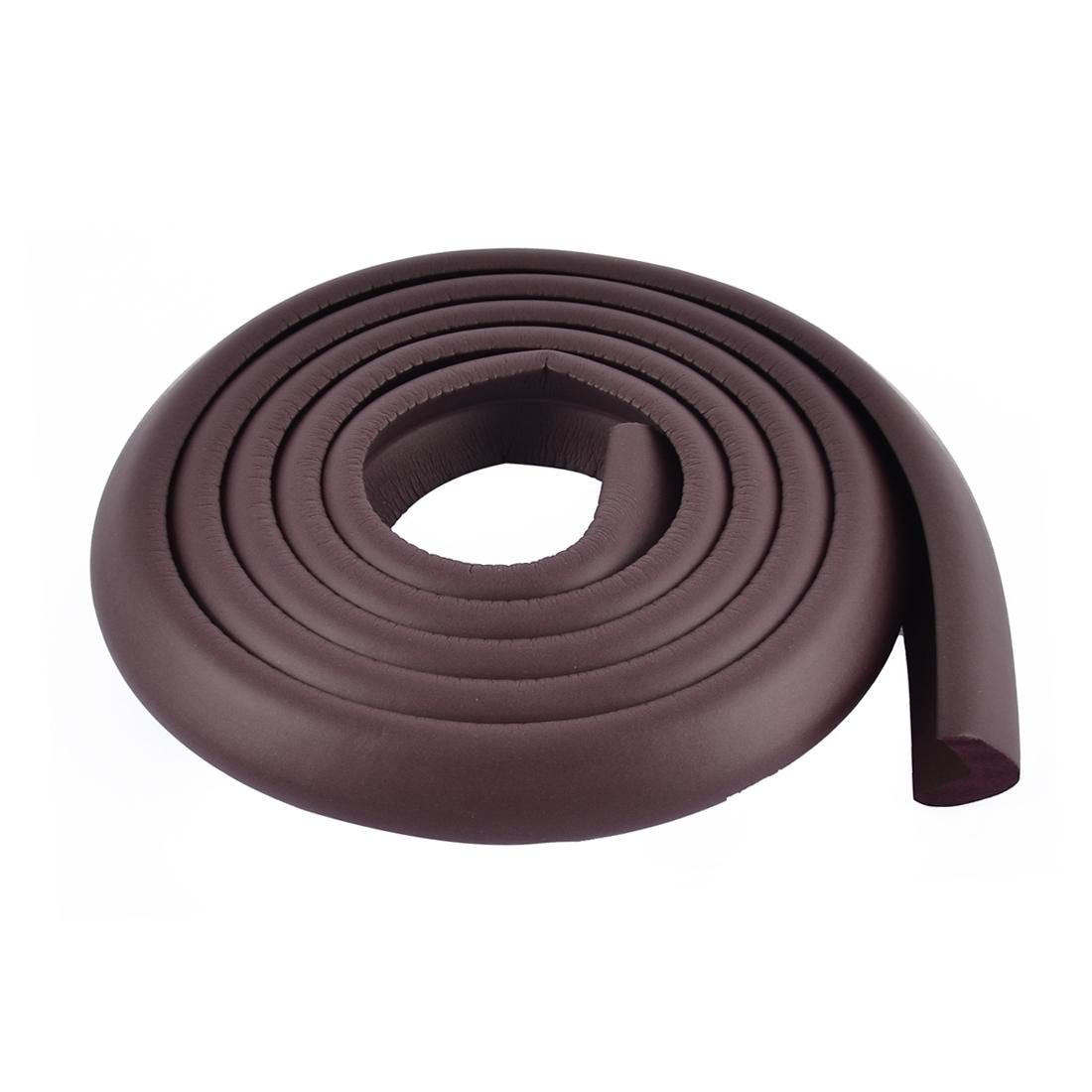 Table Corner Edge Softner Safety Protection Cushion Guard 24mm x 8mm Dark Brown