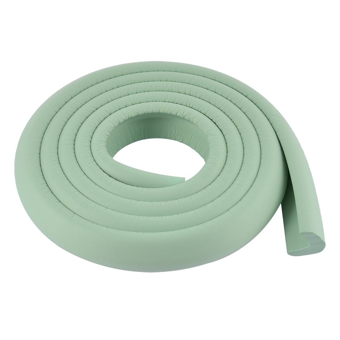 Furniture Corner Edge Protection Cushion Guard 24mm x 8mm Light Green