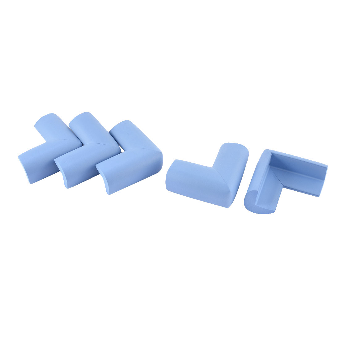 L Shape Cushion Softner Furniture Corner Edge Guard Protector Blue 5 Pcs