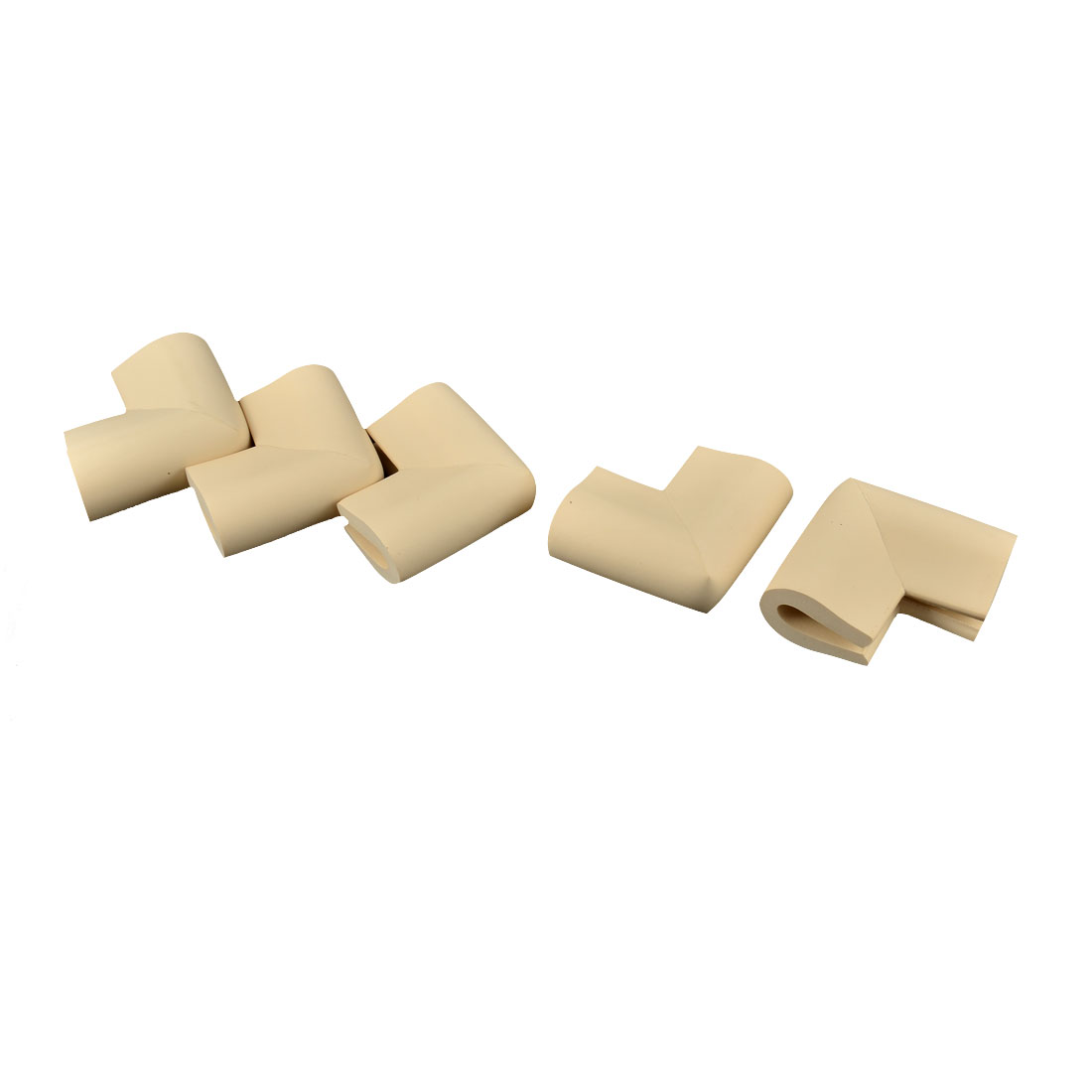 Home Safety Furniture Table Corner Edge Guard Protector Cushion Beige 5 Pcs