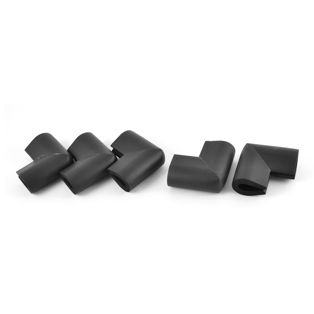 U Shape Corner Guard Home Furniture Edge Protector Cushion Black 5 Pcs
