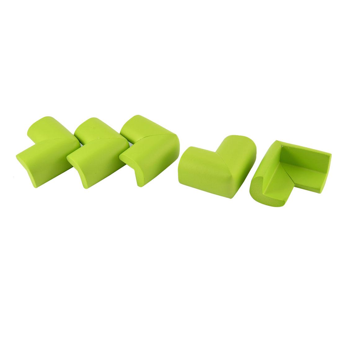 L Shape Safety Protector Furniture Corner Edge Guard Cushion Green 5 Pcs
