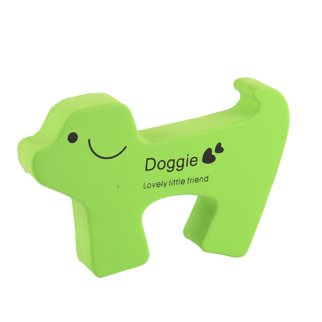 Cartoon Dog Shape Finger Protector Door Stopper Lock Safety Guard Green