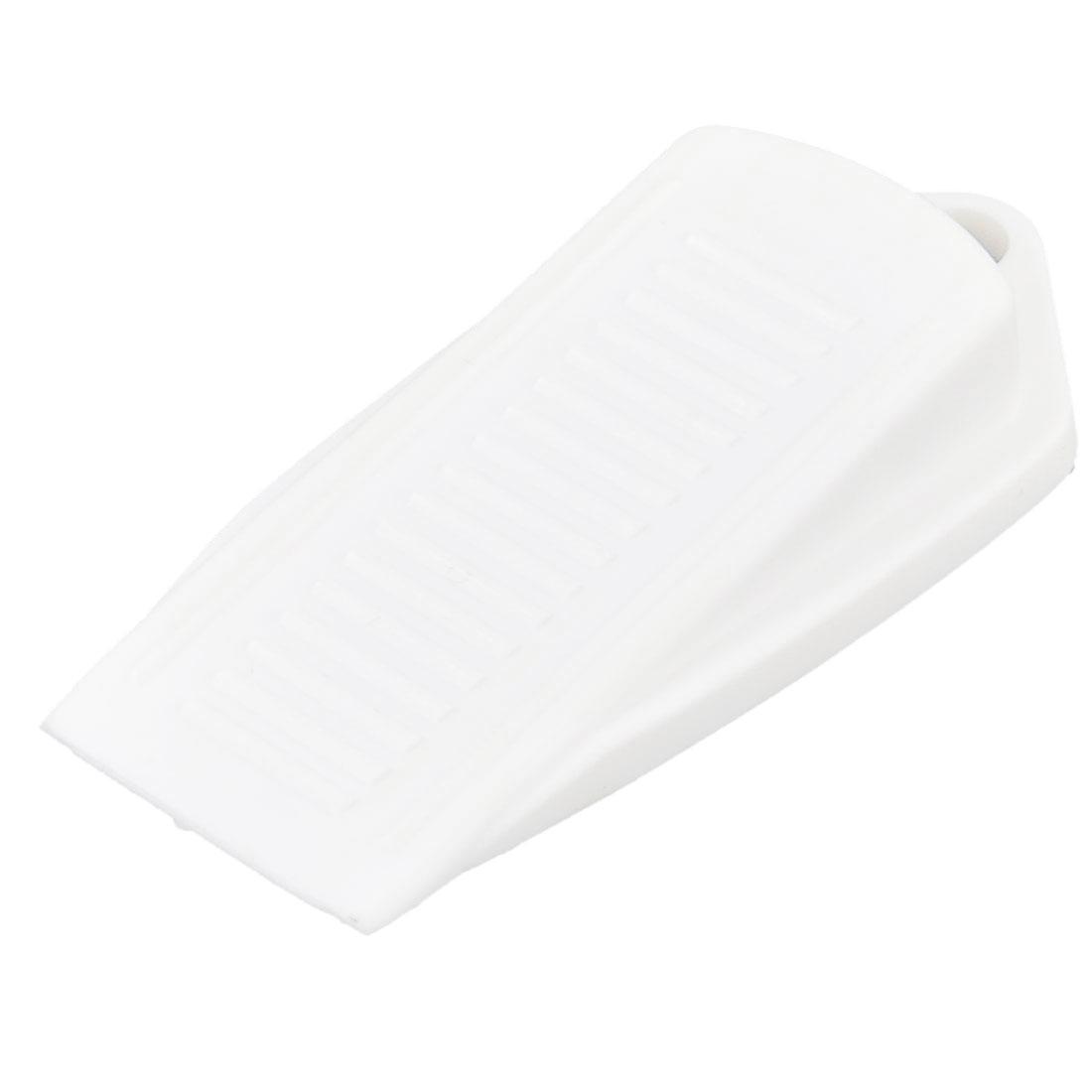 Rubber Doorstop Home Office Door Stop Wedge Safety Stopper White