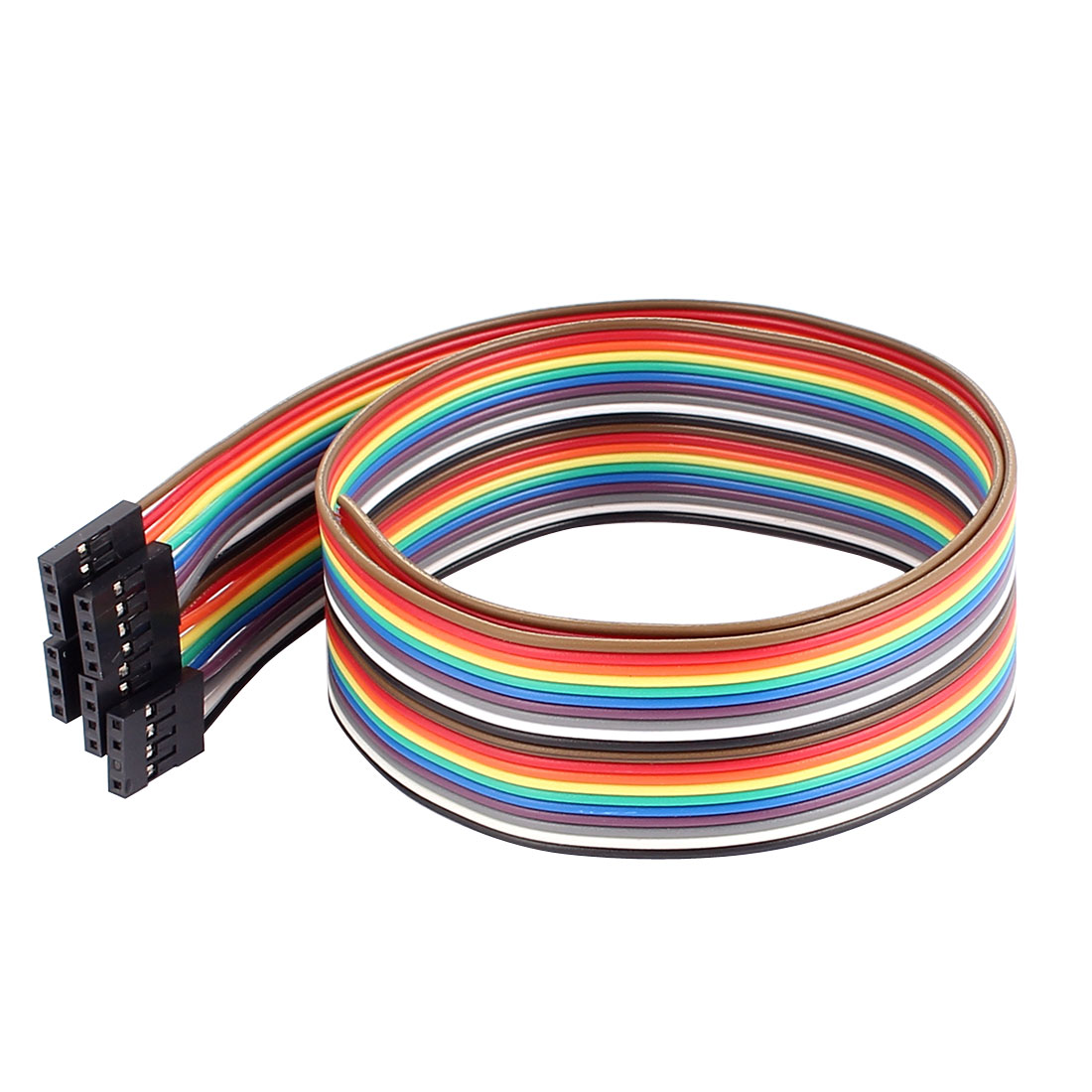 5Pcs 50cm Length Female 2.54mm Pitch 4P Single Head Jumper Wire Cable