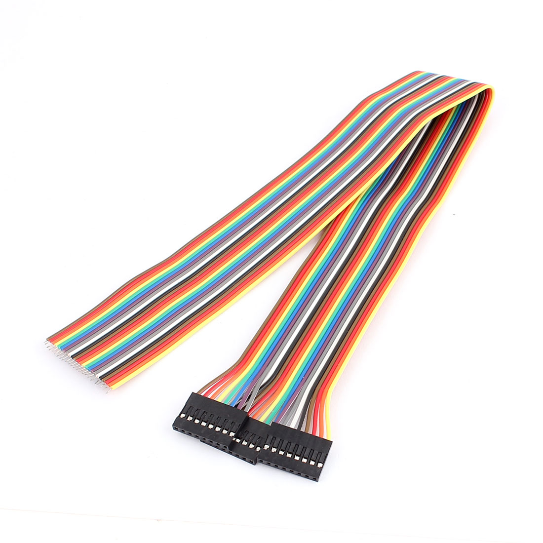 3 Pcs 40cm Length Female 2.54mm Pitch 8P Single Head Jumper Wire Cable