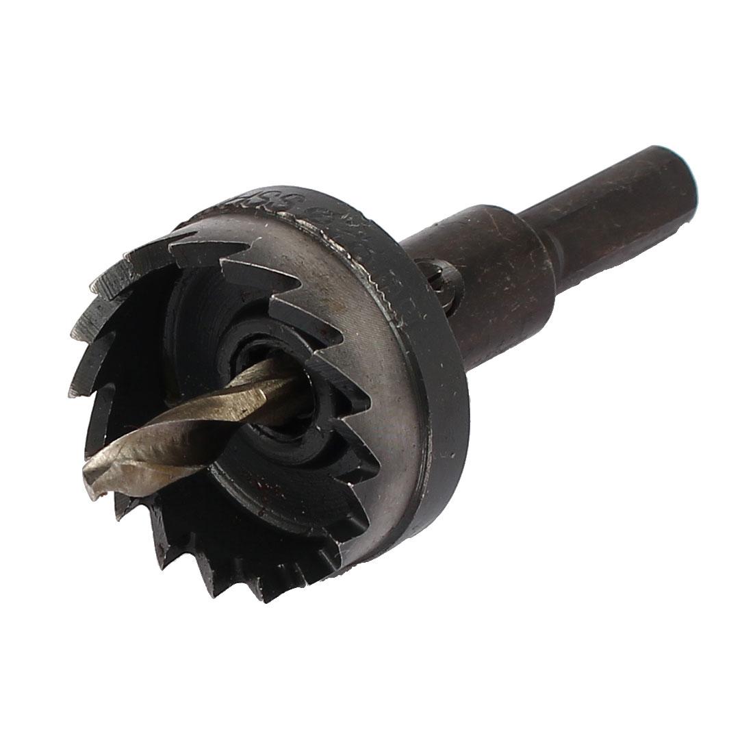 28mm Cutting Dia 5mm 2-Flute Twist Drill Bit HSS Triangle Shank Hole Saw Cutter