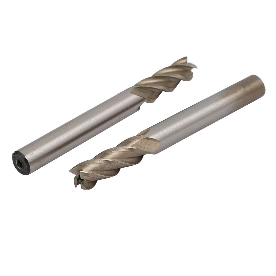 1/4'' Cutting Dia 1/4'' Straight Shank 4 Spiral Flutes End Mill 2pcs