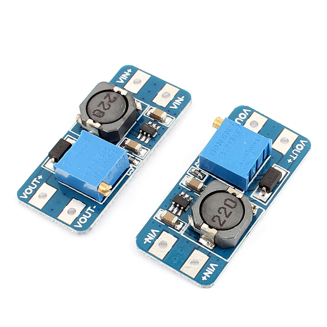 2 Pcs MT3608 Step Up Power Apply Booster Module DC-DC 2V-24V 2A