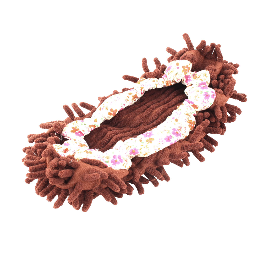 Floor House Elastic Cuff Microfiber Multifunction Cleaning Mop Slipper Shoes Cover Coffee Color