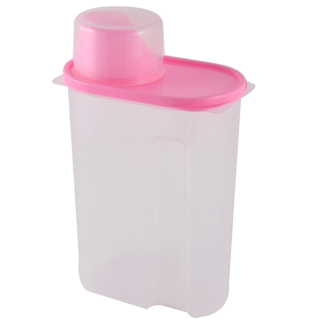 Family Kitchenware Plastic Airtight Soybean Rice Food Storage Seal Box Pink