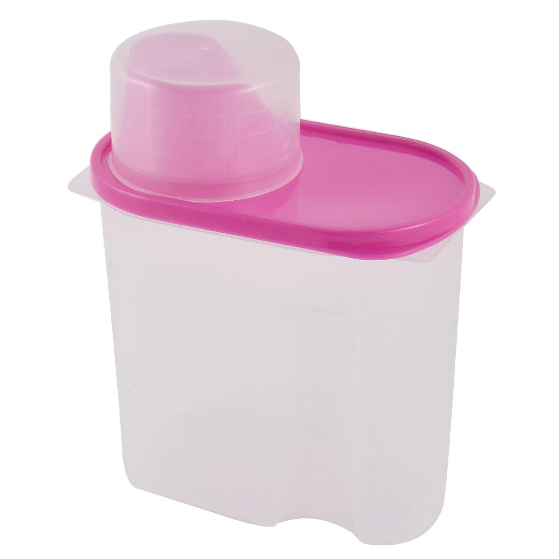 Household Kitchenware Plastic Food Storage Box Airtight Seal Holder Fuchsia