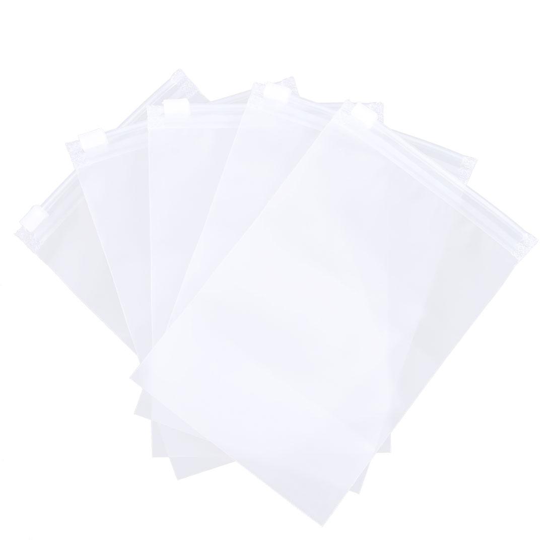 Travel Hiking PVC Transparent Water Resistance Clothes Seal Storage Bag 5pcs