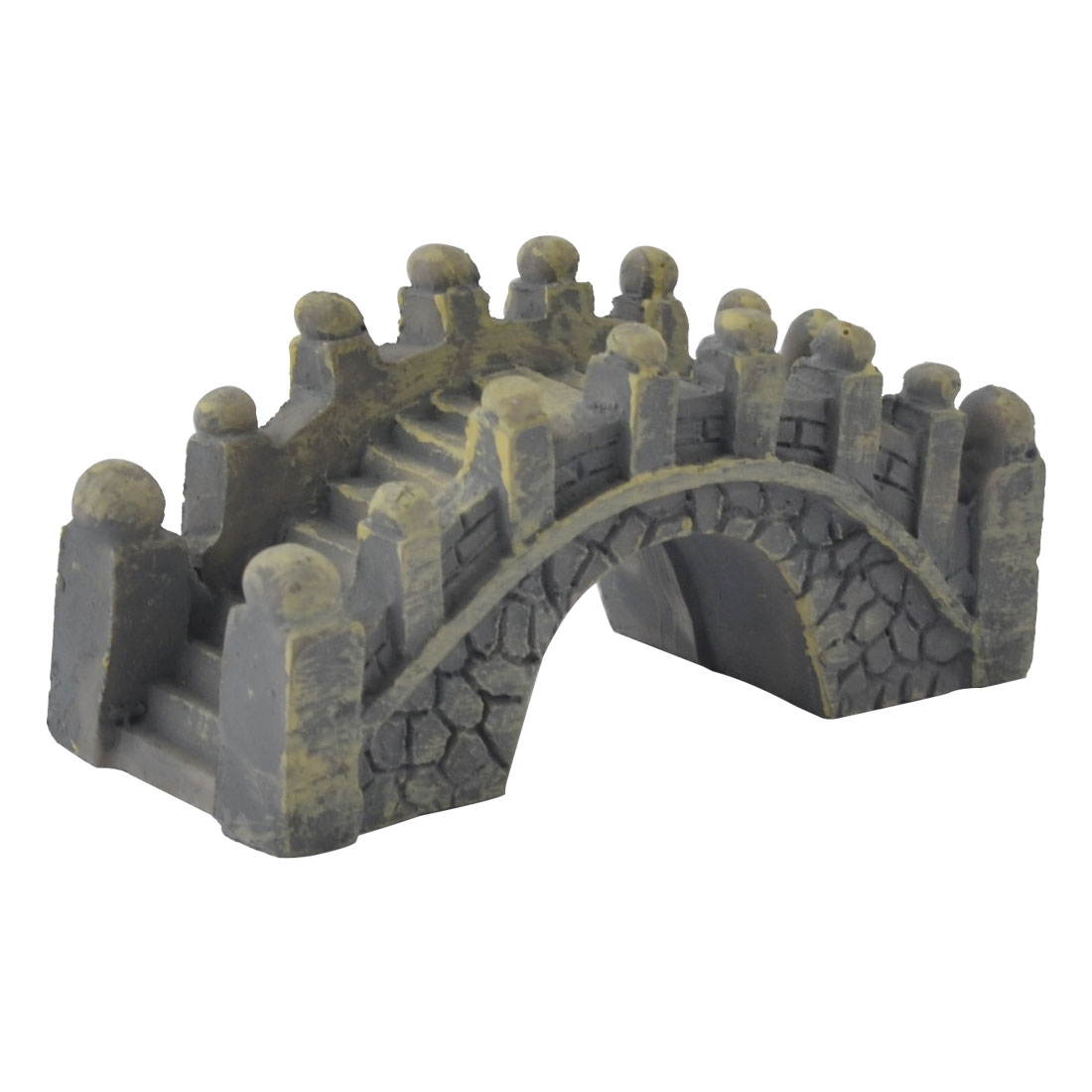 Home Office Emulational Resin Mini Bridge Design Desktop Decoration Gray