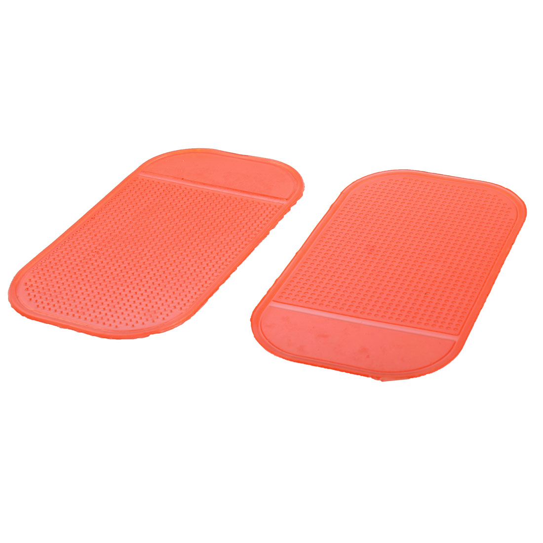 Car Silicone Rectangle Shaped Anti-slip Nonslip Decoration Adhesive Mat Sticky Pad Red 2pcs
