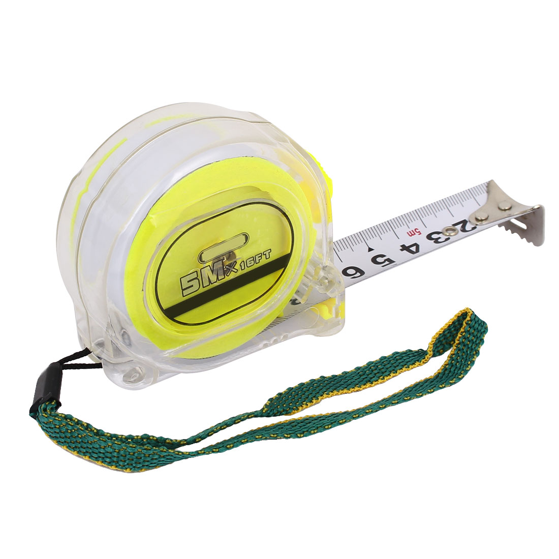 Self-Retract Design 5 Meter Portable Flexible Tape Measure Ruler Yellow