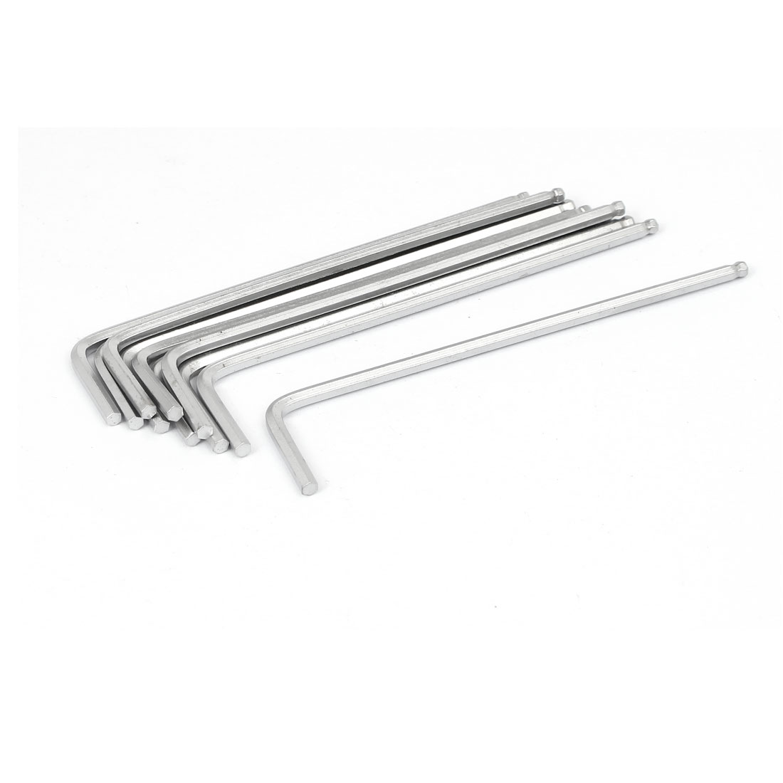Metal L Shaped Ball Ended Metric Hex Key Wrench Repair Tool 3mm 10pcs