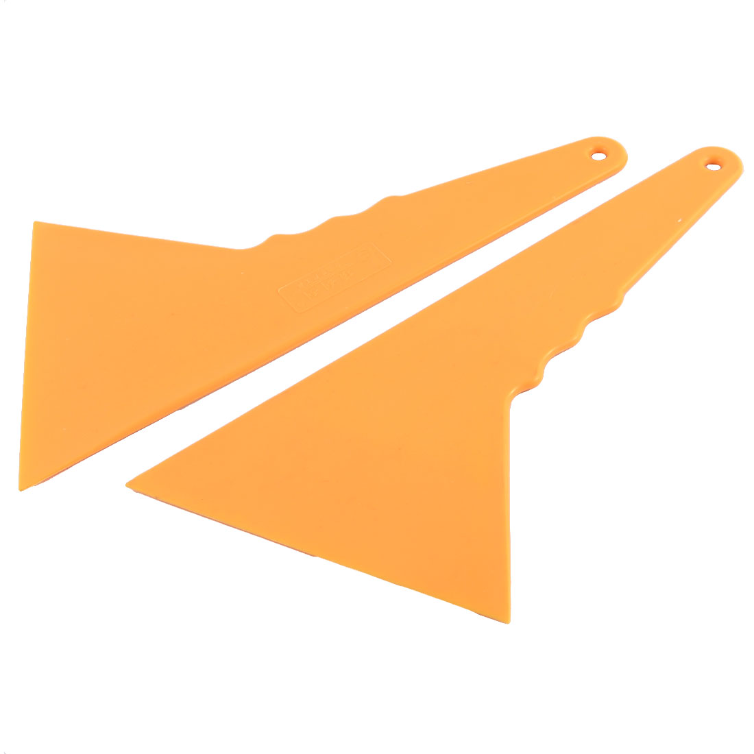 Household Plastic Handle Smooth Corners Cars Glass Wall Scraper Tool Orange 2PCS