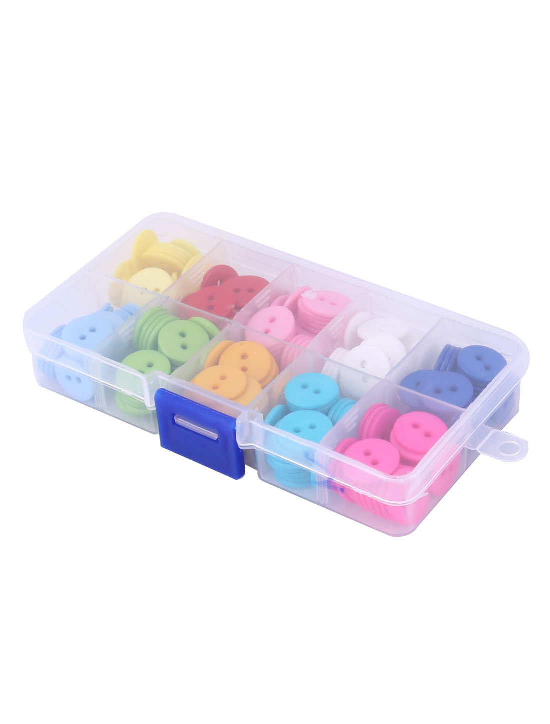 Tailor Sewer 2 Holes Plastic Assorted Color Sewing Button in Box 250pcs