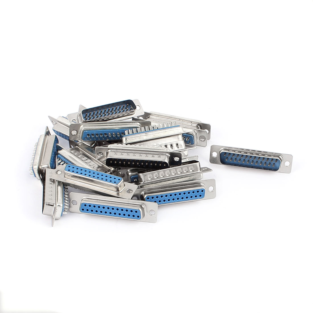 10 Pairs DB25 25P 2-Row Male+Female Computer VGA Cable Connector Adapter