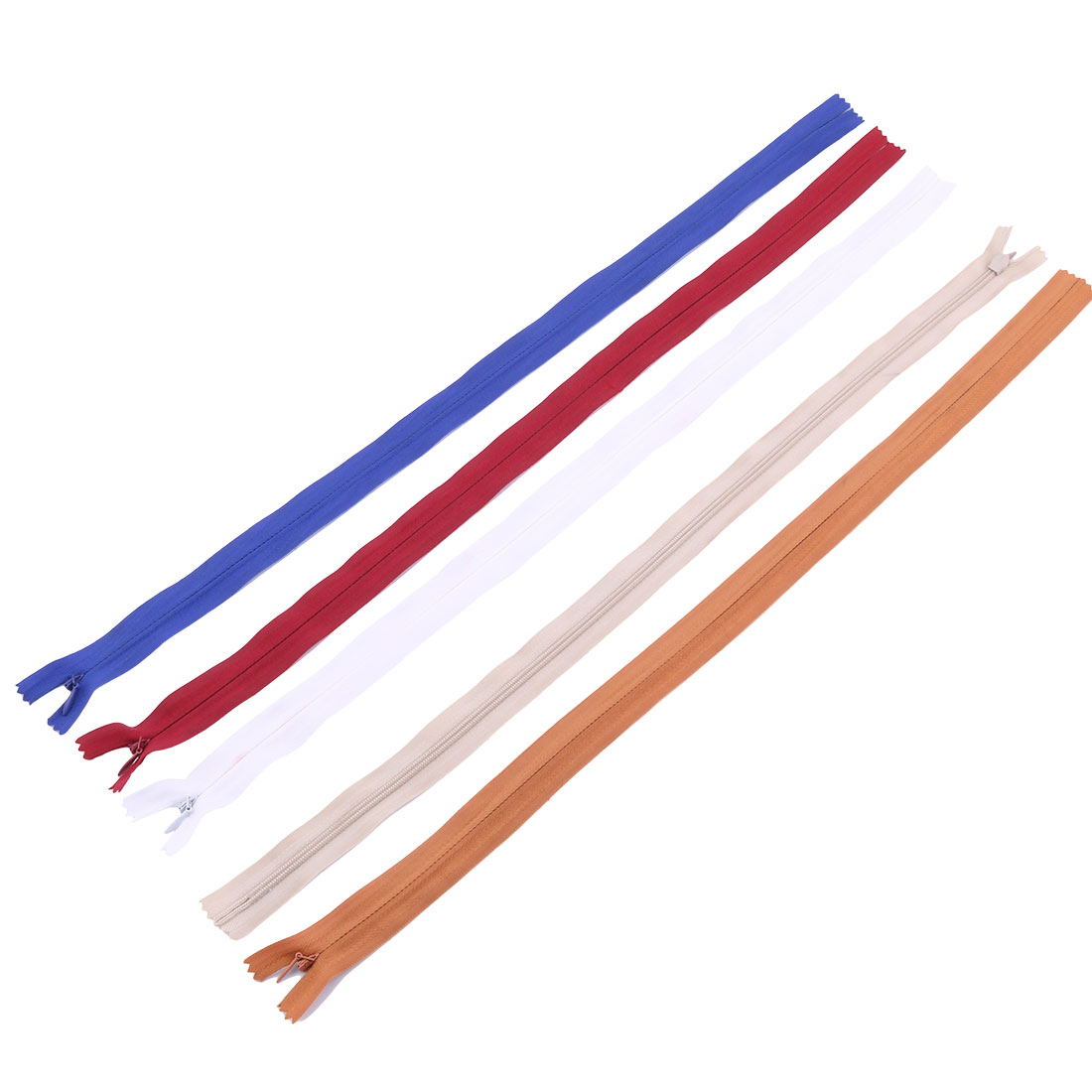 Tailor Sewer Nylon Invisible Smooth Zippers Assorted Colors 50cm Length 5pcs