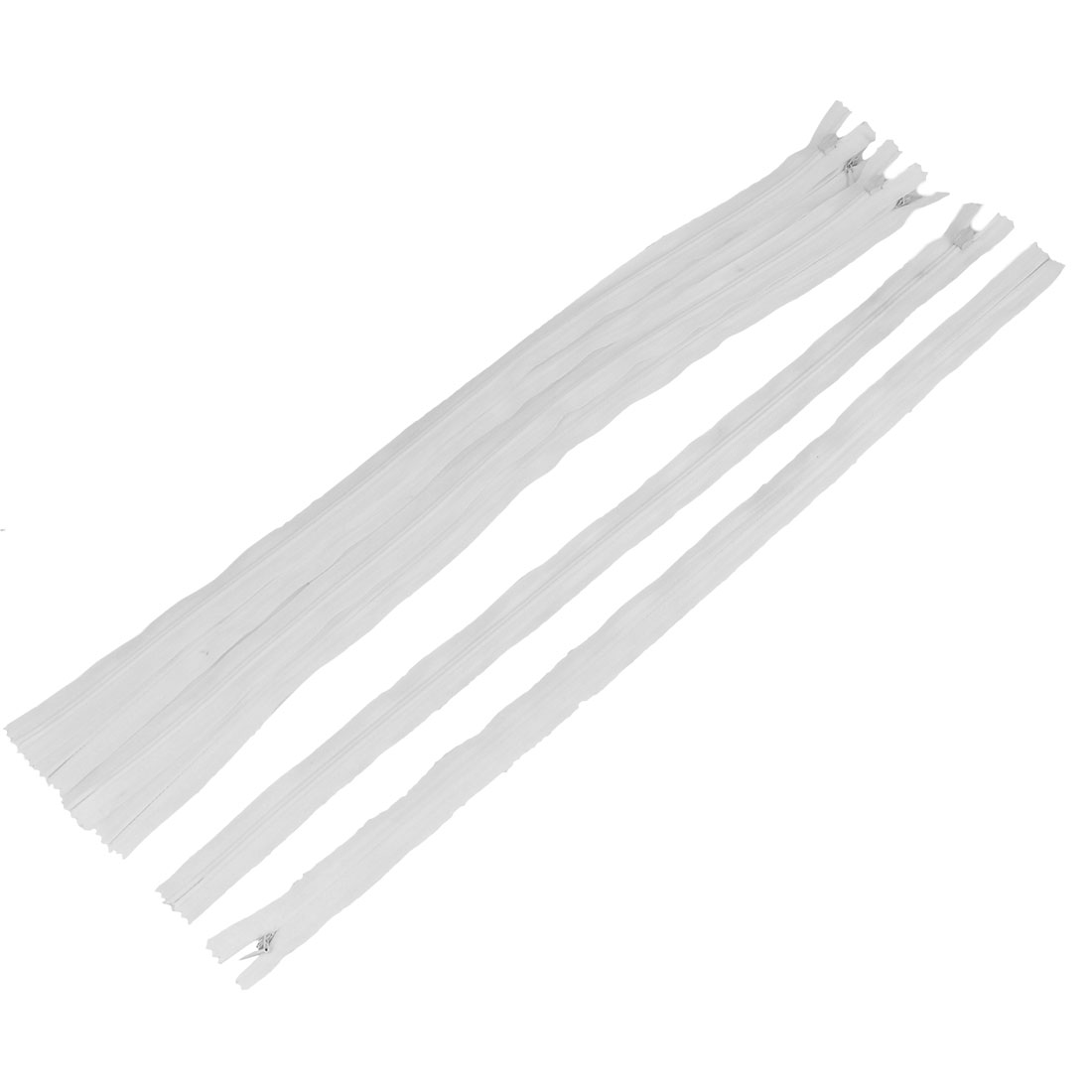 Home Tailor Dress Sewing Nylon Coil Invisible Zippers 50cm Length White 6pcs