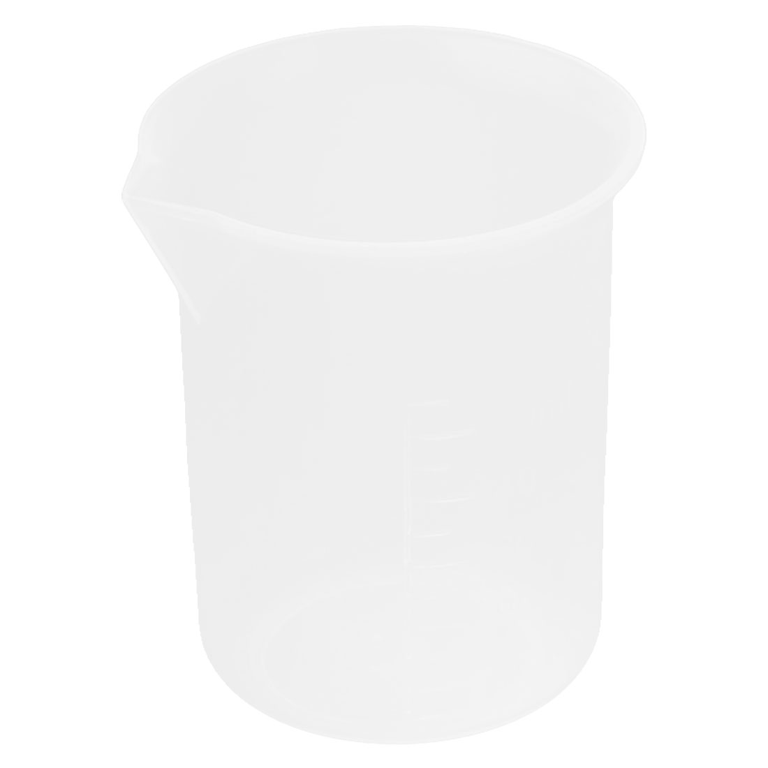 50mL Plastic Science Experiment Measuring Graduated Beaker Cup 4.3cm Dia