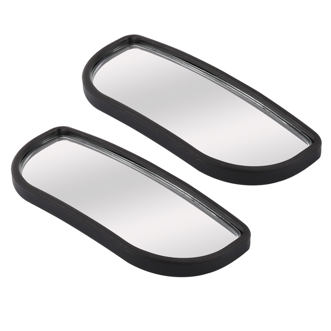 8 x 3cm Plastic Frame Adjustable Rearview Dead Angle Car Blind Spot Mirror Pair